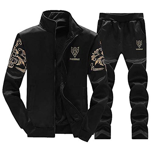 DaySeventh Men's Autumn Winter Thicken Sweatshirt Top Pants Sets Sports Suit Tracksuit