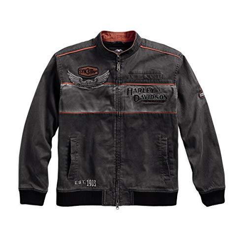 Harley-Davidson Men's Iron Block Casual Jacket (Large) Black from Harley-Davidson