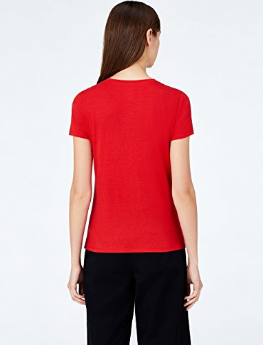 T MERAKI White Donna Racing Rosso Girocollo Shirt Red awqRdwz