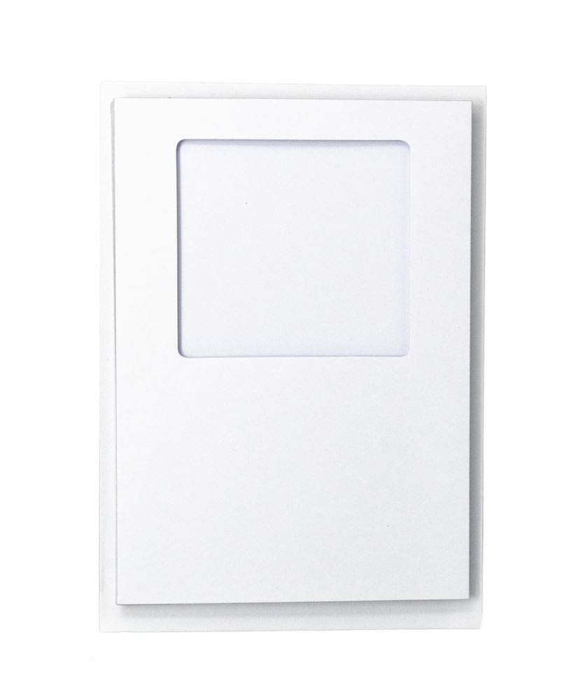 Pack Of 5 White Shimmer Oval Aperture C6//A6 Cards