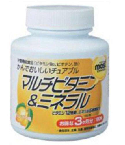 オリヒロ MOSTチュアブル マルチビタミン&ミネラル 180粒 24個 B07B9T6GYZ