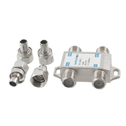 DealMux tono de plata cable coaxial conector de unión de 3 vías CATV direccional divisor