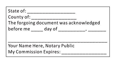 Custom Acknowledgment Stamp - Self-Inking Trodat 4926 - Notary - ()