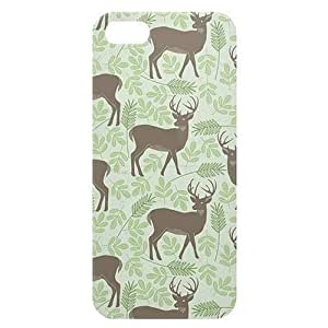 Loud Universe Apple iPhone 5/5s Spring Deers Print 3D Wrap Around Back Case - Green/Brown