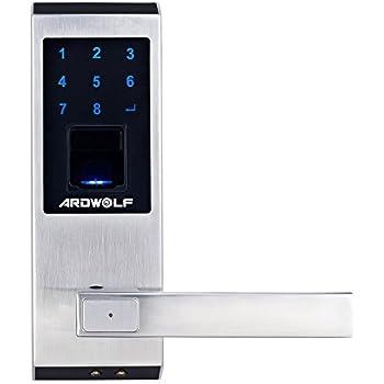 Ardwolf A20 Security High-sensitivity High-Recognition Rate Keyless Biometric Fingerprint Door Lock, Right-Handed