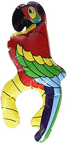 DierCosy 28cm International Inflatable Shoulder Sitting Parrot , Pirate Treasure Fancy Dress Caribbean Prop Party (Caribbean Inflatable)