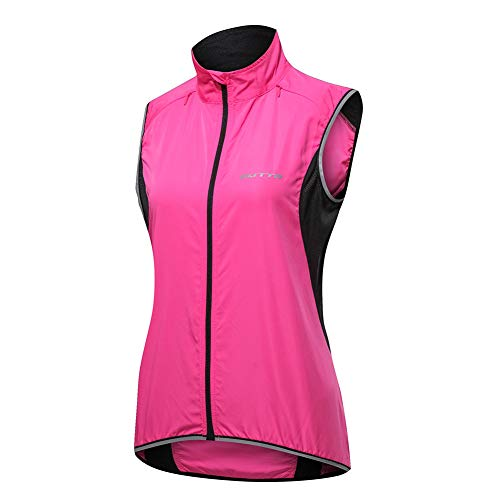 GUARDUU Women's Cycling Gilet Reflective Lightweight Waterproof Cycling Vest Sport Sleeveless Gilet Jacket for Cycling…