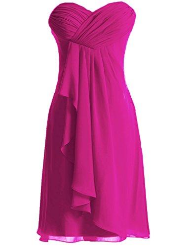 Homecoming Chiffon pink Prom Hot Damigella D' Sweetheart Abiti Short Huini Onore xAUwS0OqU