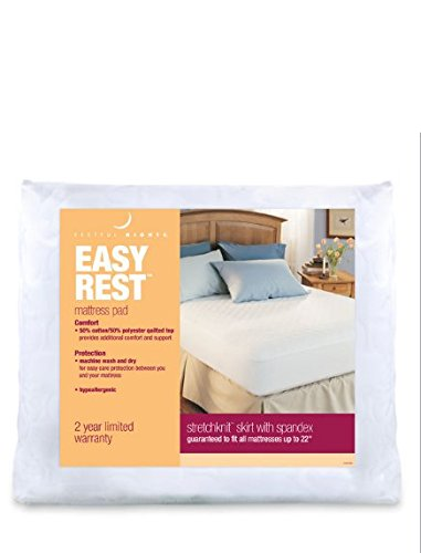 AERii Restful Nights Easy Rest Mattress Pad with FREE Restful Nights Down Surround Pillow Firm (Queen)