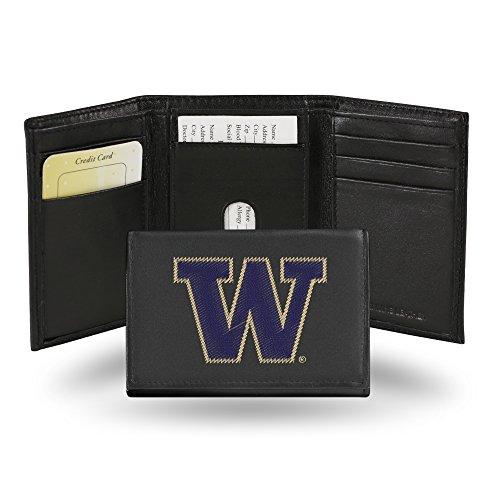 (Rico Industries NCAA Washington Huskies Embroidered Leather Trifold Wallet)
