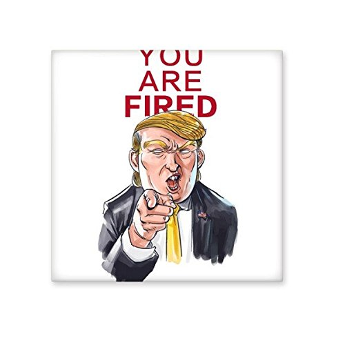 American President Trump Funny Interesting Angry President You Are Fired Ridiculous Spoof Cartoon Image Ceramic Bisque Tiles for Decorating Bathroom Decor Kitchen Ceramic Tiles Wall Tiles 85%OFF