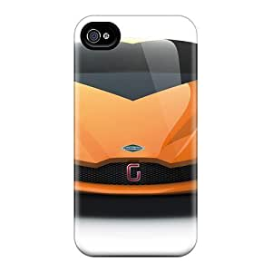 Tpu Case Cover Compatible For Iphone 4/4s/ Hot Case/ Italdesign Giugiario Namir Concept 2009
