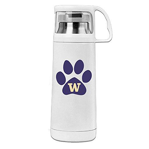 MARC Stainless Steel Vacuum Insulated Travel Mug Washington Huskies Football Handled Beverage Bottle White - Washington Huskies Beverage