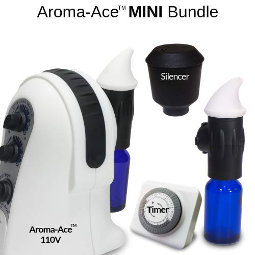 Diffuser World : Aroma Ace MINI Bundle (Includes: 2 Atomizers, 1 Timer, and 1 Silencer)