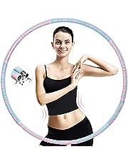 HONEYWHALE Hoelahoepel voor volwassenen, 6 segmenten, afneembare hoelahoep van 1 kg tot 3,2 kg, upgrade stabiel roestvrij staal met premium schuim voor afvallen, fitness, massage