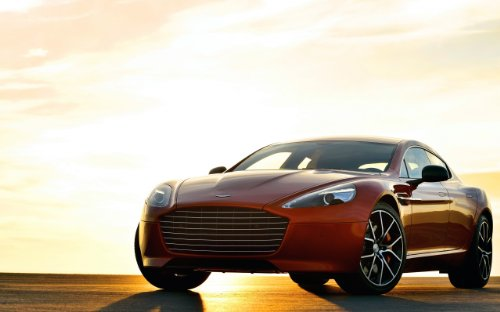 aston-martin-rapide-s-2014-car-art-poster-print-on-10-mil-archival-satin-paper-red-front-side-sunset