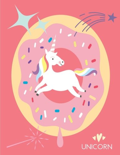 Unicorn: Pink Donut Notebook (Composition Book, Journal) (8.5 x 11 Large)