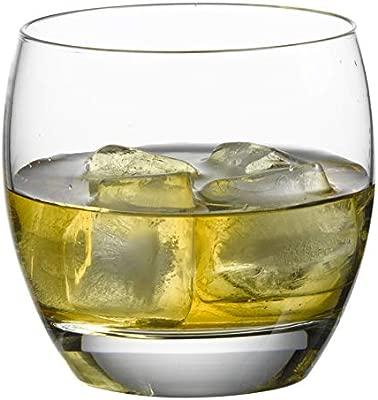 Decorative Stylish Seamless Design Old Fashioned Barrel Whiskey Glasses Set of 6 Elegant Bourbon and Cocktails Tumblers Scotch Liquor Ultra Clarity Glassware