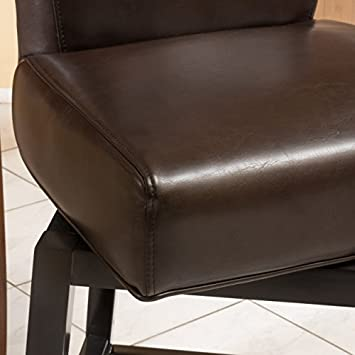 Christopher Knight Home 296076 Bergen Dark Brown Leather Swivel Counter Stool,
