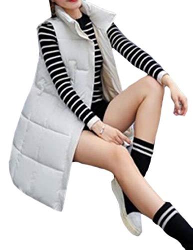 湿気の多い明るくする難民chenshiba-JP 女性のプラスサイズアウターウエアダウンコートコットンパッド入りの中期ロング冬ベスト