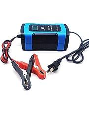 Niome Arrancador portátil de arranque de coche de 12 V 6 A compatible con automoción inteligente cargador de batería portátil, cargador de reparación de pulsos para coche, motocicleta, Azul