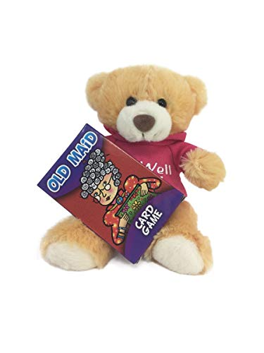 Red's Toy Shop Get Well Soon Talking Bear with Pink Shirt and Deck Cards Gift Set