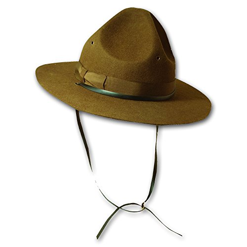 Scala Men's Wool Felt Campaign Hat, Olive, Extra Large - Pacific Military Hat
