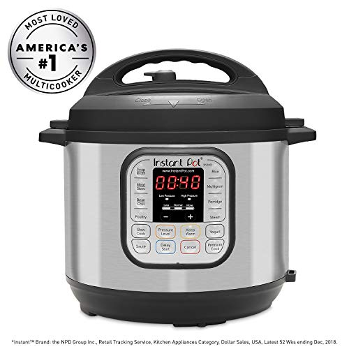 Instant Pot DUO60 6 Qt 7-in-1 Multi-Use Programmable Pressure Cooker, Slow Cooker, Rice Cooker, Steamer, Sauté, Yogurt Maker and