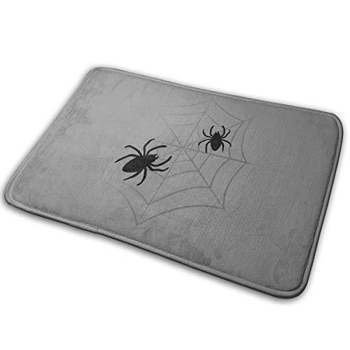 Phyllis Walker Non-Slip Doormats Halloween Spider Black Entrance Rug Indoor/Outdoor Carpet Absorbs Moisture Washable Dirt Trapper Mats 16x24 -