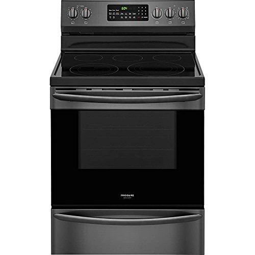 Frigidaire FGEF3059TD 30'' Electric Freestanding Range with 5 Smoothtop Cooktop, Storage, 5.7 cu. ft. Primary Oven Capacity, Self-Cleaning Mode, Viewing Window, in Black Stainless Steel by Frigidaire