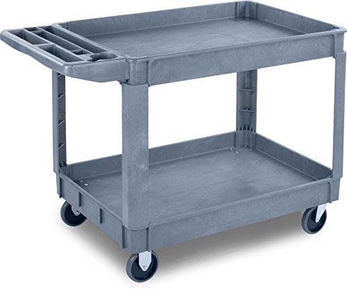 Carlisle UC452523 Large Bin Top Utility/Service Cart, 500 lb. Capacity, Gray