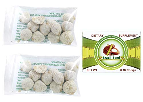 Indian Nut 24 Seeds For Weight Loss AND Semilla de Brasil Seed 100% Original 30 Day Supply
