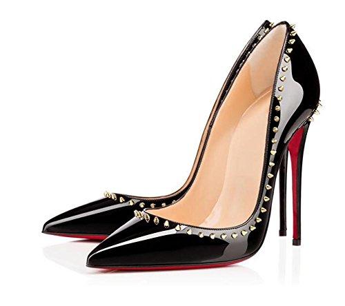 Zapatos Superficiales de Talón 41 la pie del del Alto apuntó Las XIE los Boca Boca de Sola del Banquete Negro El 39 Dedo de del Zapatos la Mujeres Zapatos Remache wxwp8Uq6