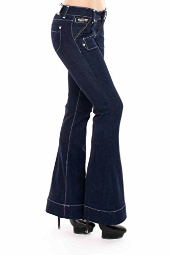 VIRGIN ONLY Women's Classic Fit Bootcut Jeans (True Blue, 11)