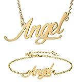 HUAN XUN Angel Name Necklace Bracelet Jewelry