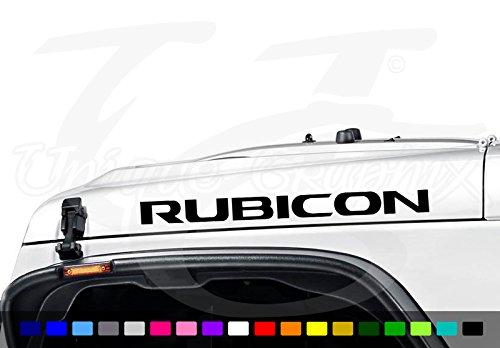 Jeep Wrangler Rubicon New Style Vinyl Hood Decals 22