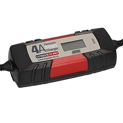 AB Tools-Maypole 4A Cargador de batería Inteligente para Auto Bote ...