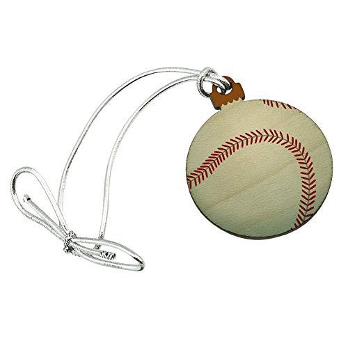 GRAPHICS & MORE Baseball Ball Mini Small Tiny Wood Christmas Tree Holiday Ornament (Mini Baseball Christmas Ornament)