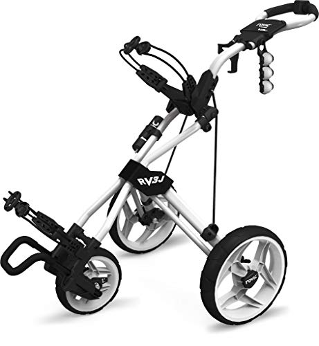 Rovic Rv3J Junior Golf Push Cart - Arctic/White