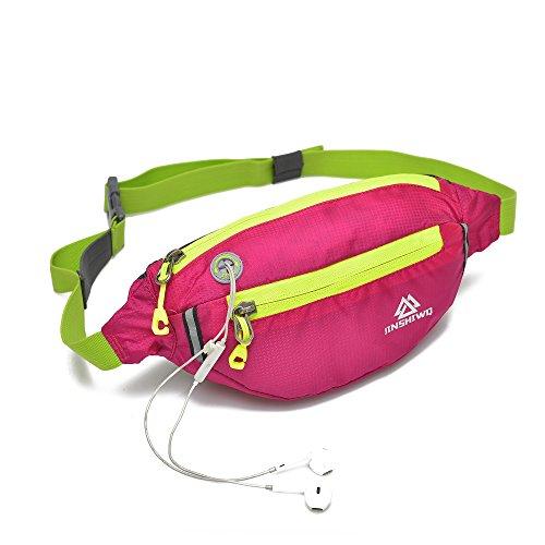 Colored Gussets - Uliteki Waist Bag For Women Men Gym Workout Yoga Travel Sport Outdoor Hiking Waist Bag, Waist Trainer Bag Pack (Rose Red)