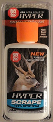 Lure Buck Stop (Buck Stop Lure Hyper Scrape Synthetic Field Dressing Accessories, 4 oz.)