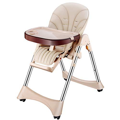 調節可能な、7つの異なる高さの赤ん坊の高い椅子および3つの位置の調節可能な座席が付いている調節可能な、赤ん坊の高い椅子 - 高い椅子 - 取り外し可能な皿が付いている高い椅子、快適な赤ん坊のクッション   B07RLSHH6F