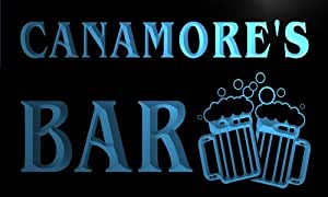 w145063-b CANAMORE Name Home Bar Pub Beer Mugs Cheers Neon Light Sign