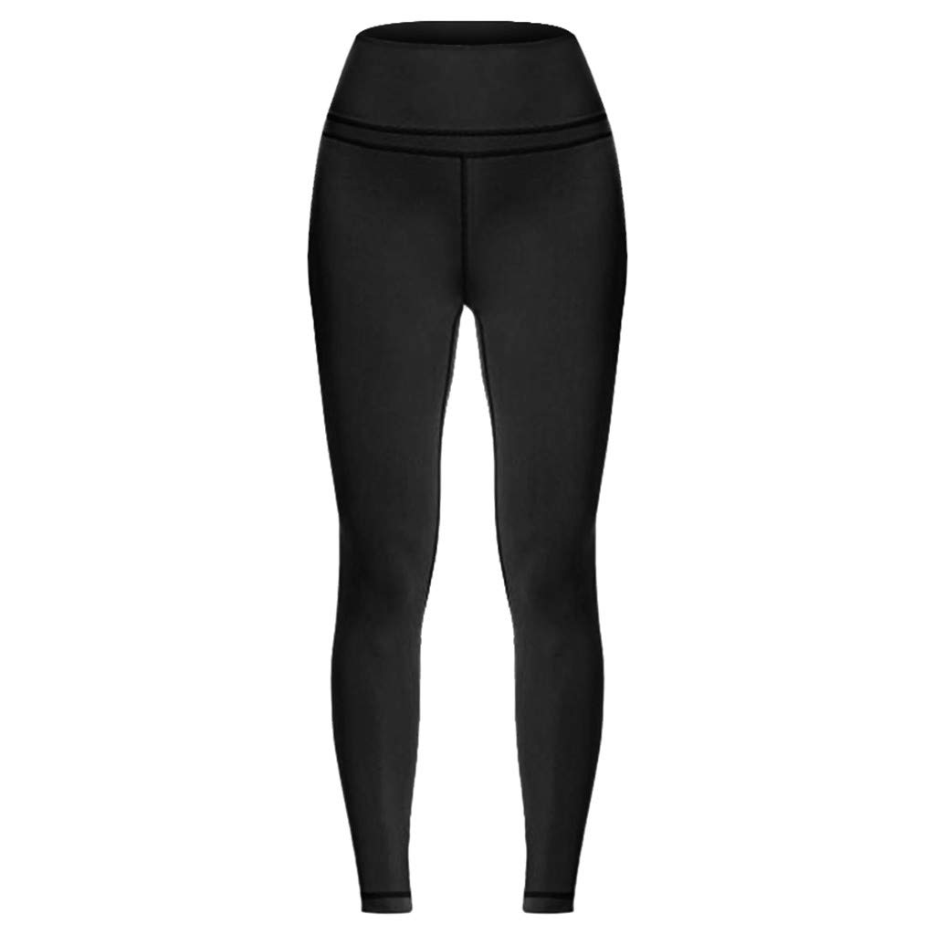 GIOKFEND Women's High Waist and Tight Fitness Yoga Pants Nude Hidden Pocket Yoga Pants (M, Black)