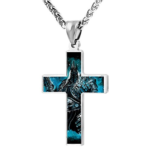Kenlove87 Patriotic Cross The Lich King Religious Lord'S Zinc Jewelry Pendant (World Of Warcraft Costumes For Sale)