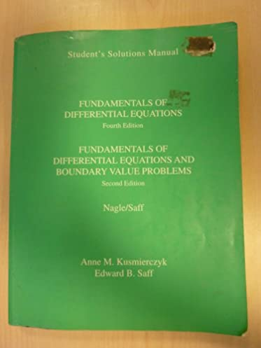 fundamentals of differential equations solutions manual r kent rh amazon com fundamentals of differential equations 8th edition solutions manual pdf download fundamentals of differential equations solutions manual