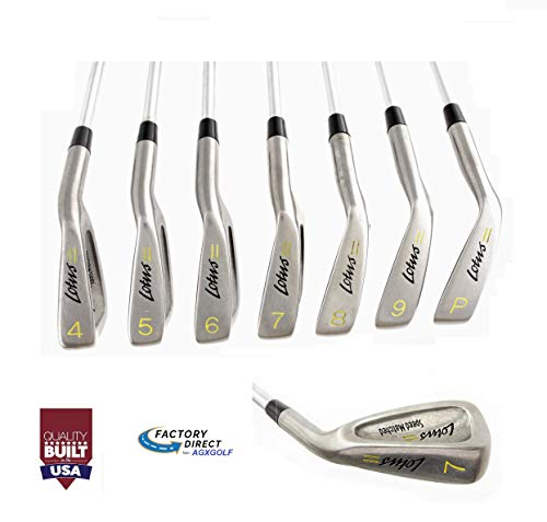 TaylorFit Ladies Right Hand Regular Length Lotus Series Irons Set w/Lady Flex Stainless Steel Shafts: 4, 5, 6, 7, 8 & 9 Irons + Pitching Wedge Built in The USA! ()
