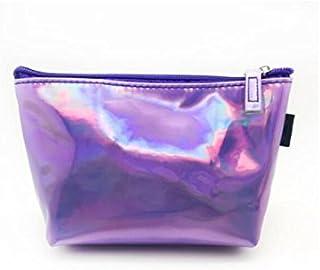 HOUHOUNNPO Mode Sac de Rangement Pliable Sac cosmétique Pouch Bag Wash Bag pour Les Femmes (Violet) Pochette Cosmétique Femme