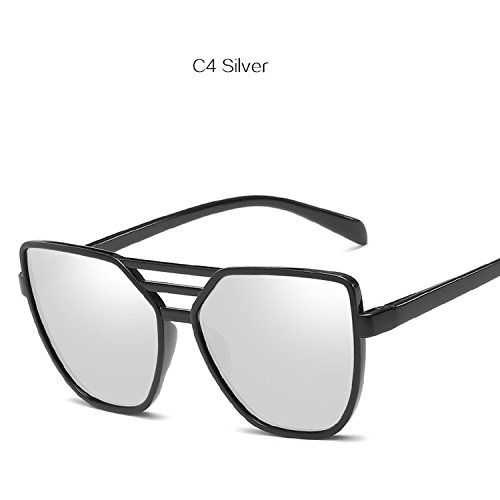 world-palm Cat Eye Sunglasses Women Shades Color Film Reflective Glasses Retro Eyewears ()