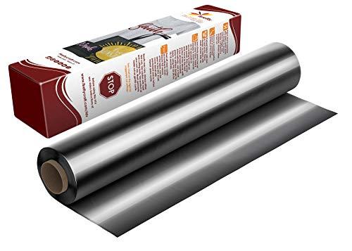 Firefly Craft Elastic Foil Titanium Heat Transfer Vinyl | Metallic HTV Vinyl | Titanium Iron On Vinyl for Cricut and Silhouette | Mirror Style Heat Press Vinyl for Shirts - 12 x 20 Sheet